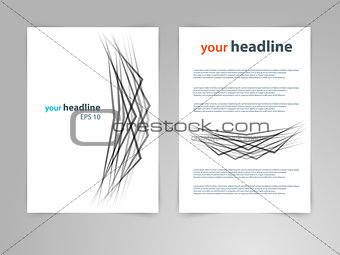 Abstract geometric design vector template layout for magazine, brochure, flyer, booklet, cover, annual report, in A4 size