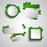 Spring green frame pointer tag design element