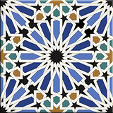 Arabic tiles seamless pattern. Seville, Spain.