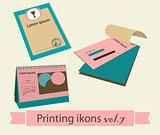 Print icons set7.