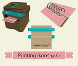 Print icons set 1