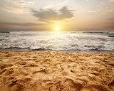 Foamy waves of ocean