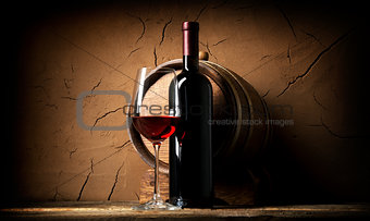 Old wine in cellar