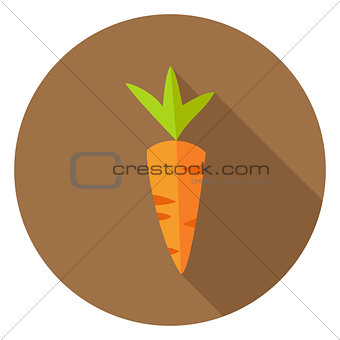 Carrot Vegetable Circle Icon