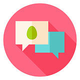 Easter Egg Speech Bubbles Circle Icon