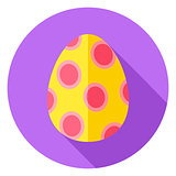 Easter Egg with Big Circles Decor Circle Icon
