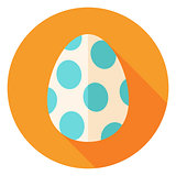 Easter Egg with Big Dots Decor Circle Icon