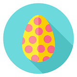 Easter Egg with Circles Decor Circle Icon