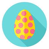 Easter Egg with Circles Decor Circle Icon