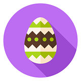 Easter Egg with Ornament Decor Circle Icon