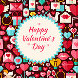 Flat Vector Pattern Happy Valentine Day Background