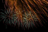 fragment of holiday fireworks