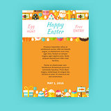 Happy Easter Invitation Vector Template Poster