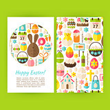 Happy Easter Vertical Flyers Set Template