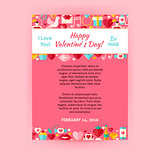 Happy Valentine Day Invitation Vector Template Flyer