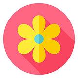 Spring Flower Circle Icon