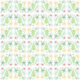 Doodle Leaf Seamless Pattern Background