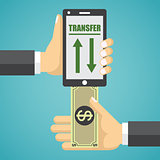 Mobile banking design illustration.