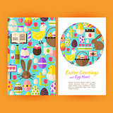 Vector Happy Easter Flyer Templates