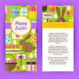 Vector Vertical Flyer Template for Happy Easter