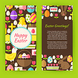 Vertical Flyer Template Flat Happy Easter