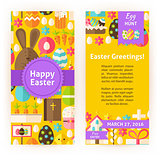 Vertical Flyers for Happy Easter Holiday