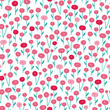 Seamless bright scandinavian floral pattern