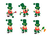 Collection of humor character for Saint Patricks design.
