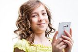 native mobile generation girl smiling