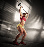 Workout athletic woman