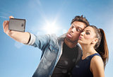 Selfie couple
