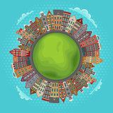 Amsterdam houses, little green planet