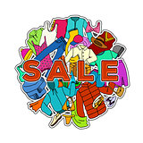 Sale Season. Doodle Cloth Collection