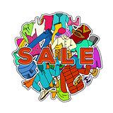 Sale Season. Doodle Cloth Collection