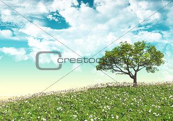3D tree landscape