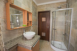 Interior of a luxury show home bathroom