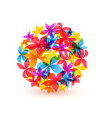Vector abstract colorful flowers