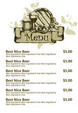 restaurant beer menu