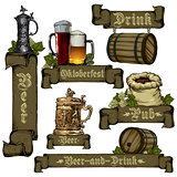 set of beer elements
