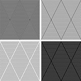 Seamless diamonds patterns set.