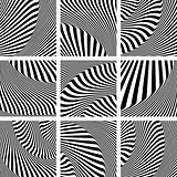 Op art patterns set.