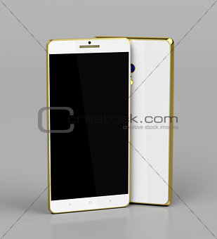 Smartphones with golden frame