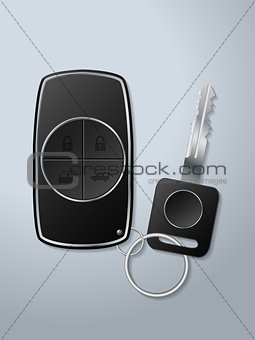 Car key and remote with functions