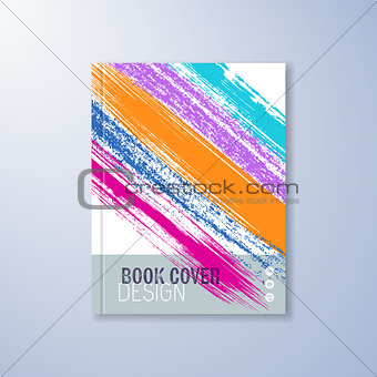 Abstract book design template