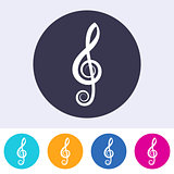 Vector treble clef icon
