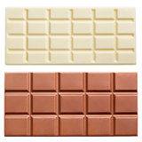Milk chocolate bars isolated on white