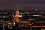 Milan, Italy: aerial view, central part of the city