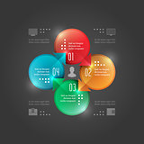Business Infographics Design Template. Vector Elements. Circle Chart Diagram Illustration