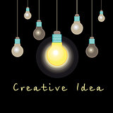 graphic light bulb idea concept