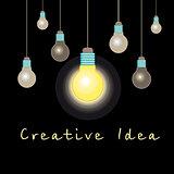 graphic light bulb idea concept